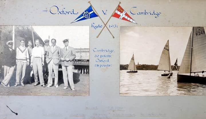Photo of 1931 Cambridge sailing team for Cambridge sailing, windsurfing, kitesurfing history