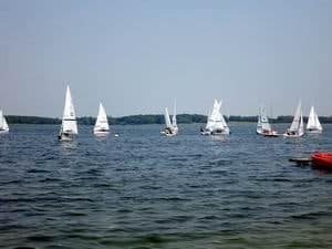 Photo of dinghies sailing for Cambridge Dinghy Sailing
