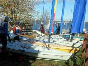 Photo of boats and people for Cambridge Dinghy Sailing