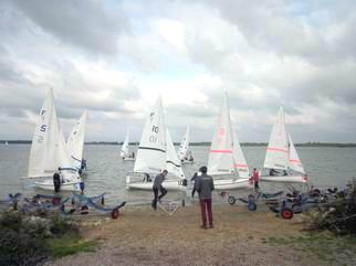 Photo of dinghies launching