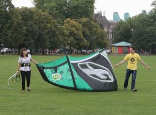 Photo of surfing kite for Cambridge sailing, windsurfing, kitesurfing alumni