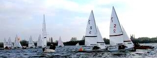 Photo of dinghies sailing - All about Cambridge team racing