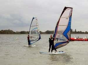 Photo of windsurfers