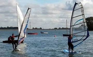 Photo of windsurfers