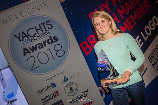 Photo of Fiona with her trophy