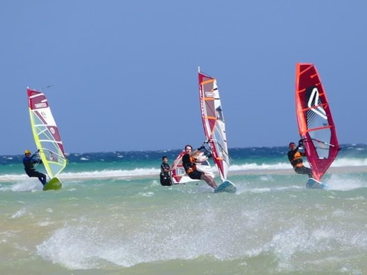 Photo of windsurfers on Fuerteventura