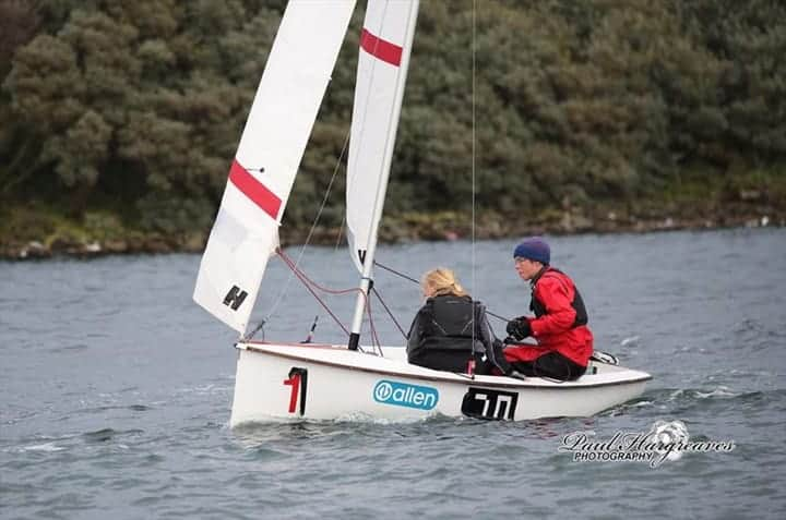 Boat sailing for 24 hour race
