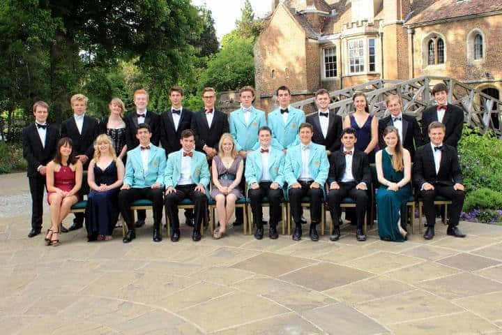 Photo of students dressed for May Ball for Join the CUCrC