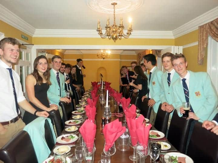 Photo of sailors for Cambridge team racers 2018 Christmas Dinner