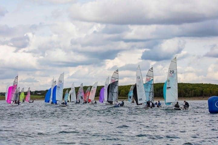 Boats sailing at 2019 RS200 Inlands