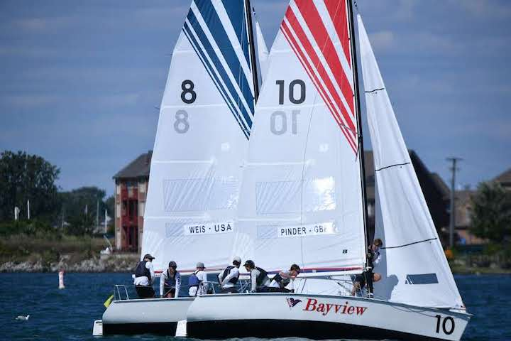 Boats sailing in 2019 USA match racing