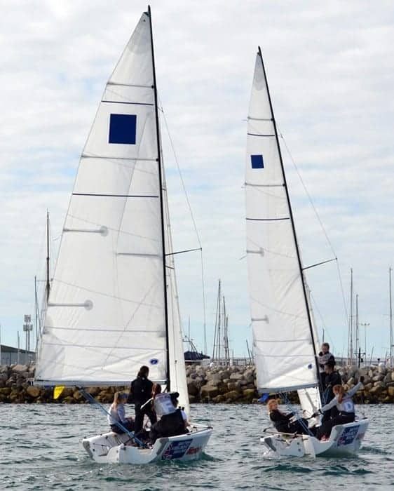 Boats sailing in UK 2019 Women's Match Racing