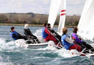 Photo of dinghies sailing for Cambridge sailingalumni information