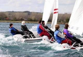 Photo of dinghies sailing for Cambridge sailingalumni information